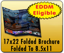 17x22 Folded Brochure - Direct Mail | Cheapest EDDM Printing