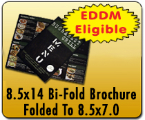 8.5x14 Folded Brochure - Direct Mail | Cheapest EDDM Printing