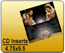 CD Inserts 4.75 x 9.5 - CD/DVD | Cheapest EDDM Printing