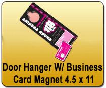 Eddm postcard brochures yard signs 24x24 yard signs magnetic door hanger wbusiness card magnet 45 x 11 yard signs magnetic cards reheart Image collections