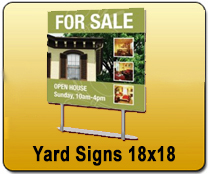 Yard Signs 18x18 - YARD SIGNS & Magnetic Cards | Cheapest EDDM Printing