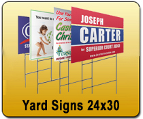 Yard Signs 24x30 - YARD SIGNS & Magnetic Cards | Cheapest EDDM Printing